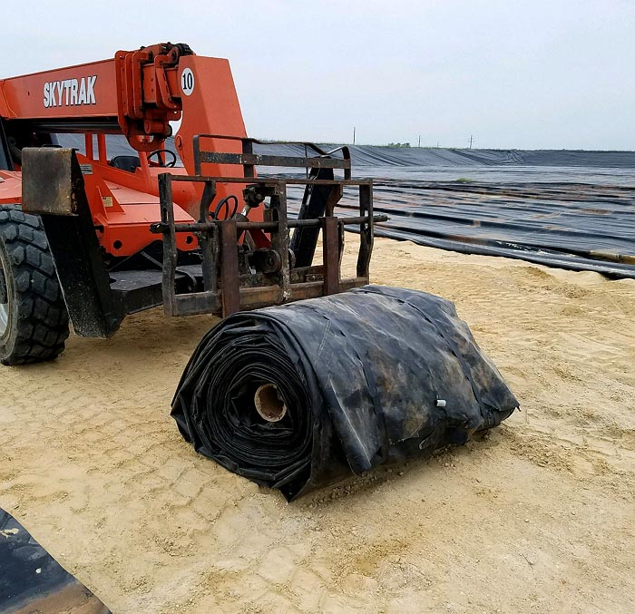 Poly liner removal and recycling, Colorado, New Mexico, Texas